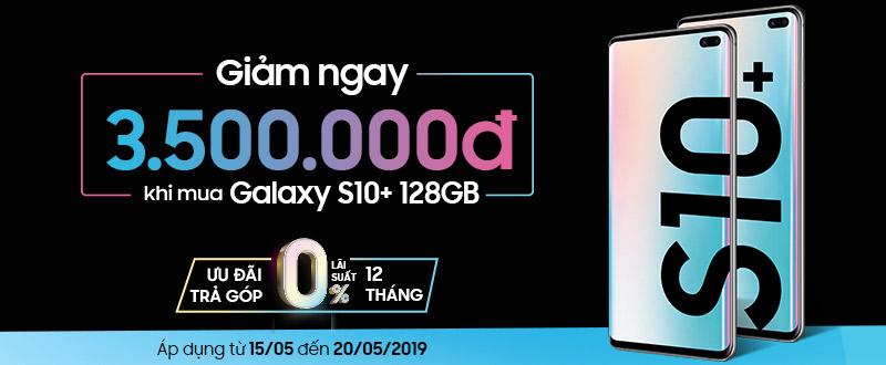 Mua Galaxy S10 Plus 128GB công ty giảm thẳng 3,5 triệu