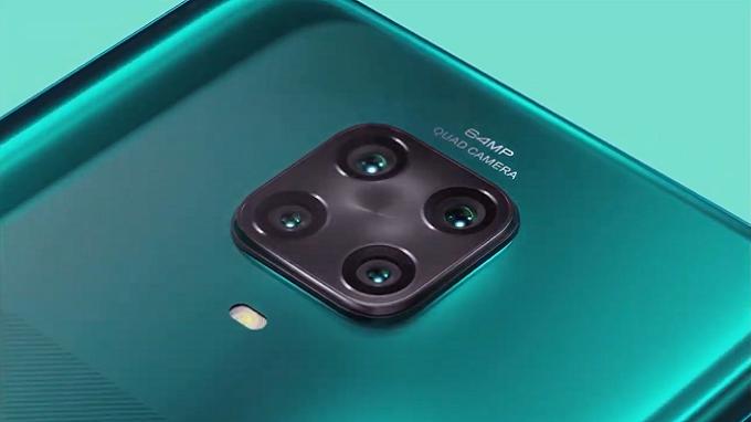 Cụm camera Redmi Note 9 Pro với cảm biến chính 64MP
