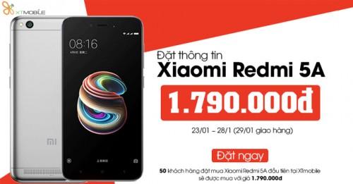 Đặt mua ngay Xiaomi Redmi 5A với giá cực ưu đãi
