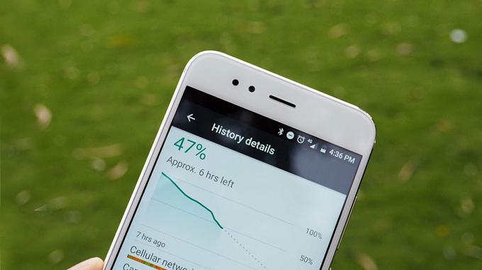 Xiaomi Mi A1 đồng hành cùng viên pin có dung lượng 3.000 mAh