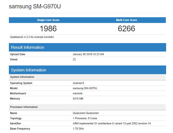 Galaxy S10 Lite với chip xử lý Snapdragon 855 xuất hiện trên GeekBench