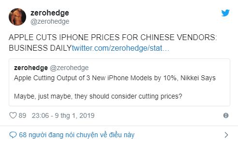 Thông tin về Apple iPhone được đăng tải