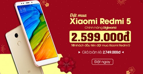 Đặt gạch ngay Xiaomi Redmi 5 - hưởng giá cực sock
