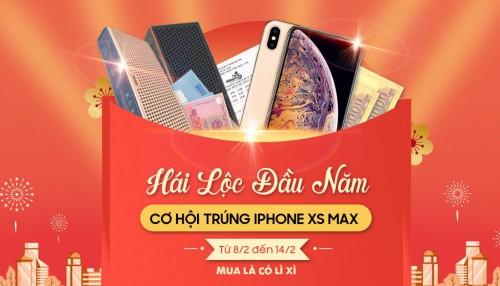 Hái lộc đầu Xuân Kỷ Hợi: Mua là có lì xì, cơ hội trúng iPhone Xs Max