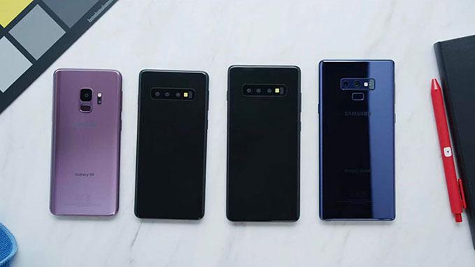 Samsung đã gia tăng độ phủ màn hình bộ đôi Galaxy S10 đến mức tối đa