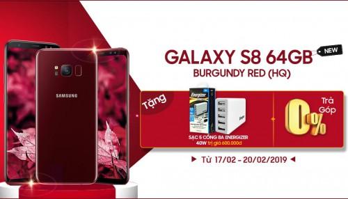 Mua Galaxy S8 Burgundy Red tặng sạc 5 cổng Energizer trị giá 600K