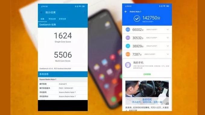 Điểm hiệu năng của Redmi Note 7 ấn tượng