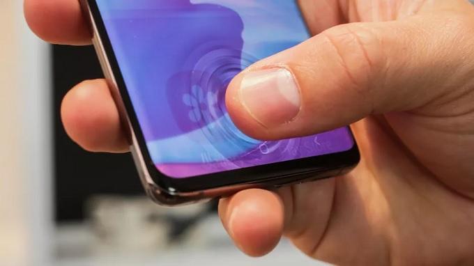 Cảm biến vân tay trong màn hình Galaxy S10 mới