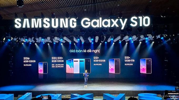 Giá bán Galaxy S10 tại Việt Nam