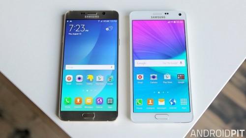 So sánh điểm vượt trội của Galaxy Note 5 xách tay với Note 4