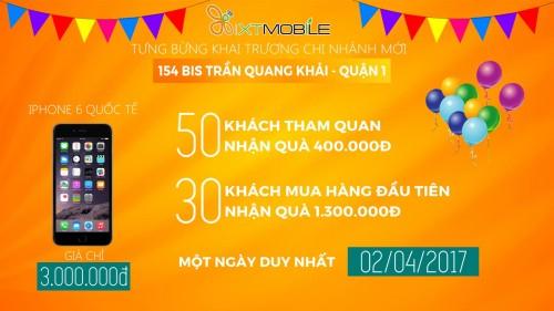 XTmobile - Khai trương 154bis Trần Quang Khải, mua iPhone 6 với giá chỉ 3 triệu đồng
