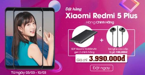 Đặt gạch Xiaomi Redmi 5 Plus chính hãng - Nhận quà cực shock