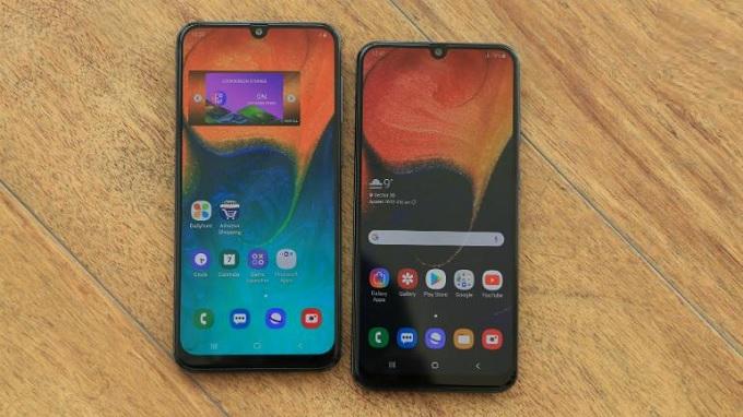 Màn hình giọt nước trên Galaxy A50 và Galaxy A30