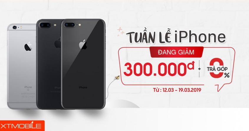 Sắm iPhone không lo tốn kém: Giảm giá 300 ngàn cả tuần, trả góp 0%
