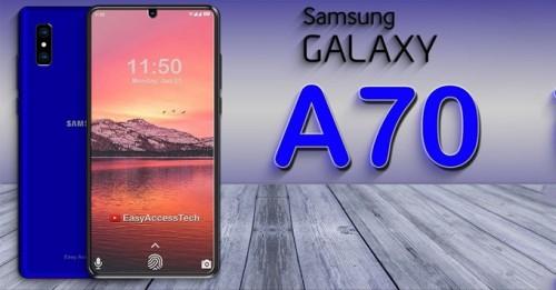 Galaxy A70 lộ diện với 3 camera sau, vân tay dưới màn hình, pin khủng