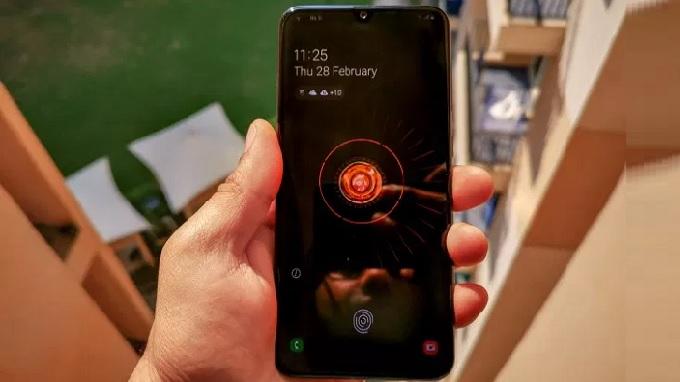 Cảm biến vân tay trong màn hình Galaxy A50