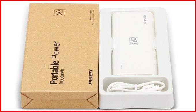 Pin dự phòng Pisen Portable Power 10.000mAh giảm giá 44%