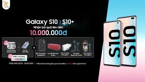 Mua Galaxy S10, S10 Plus chính hãng nhận ngay bộ quà hơn 10 triệu