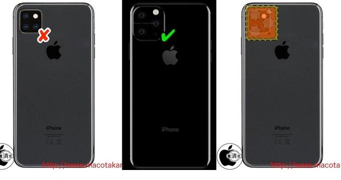 Cách sắp xếp camera iPhone XI sẽ là hình tam giác đều