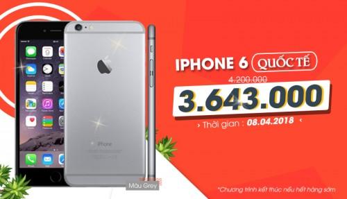 Mua iPhone 6 Quốc tế giá chỉ từ 3 triệu tại XTmobile