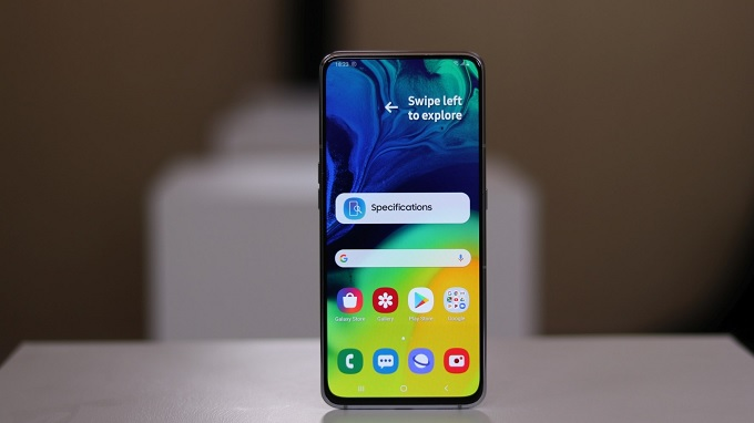 Galaxy A80 có màn hình tràn viền hoàn hảo