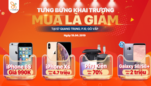 Khai trương XTmobile Quang Trung: iPhone Xs, Xs Max giảm đến 4,7 triệu, iPhone 6S giá 990 ngàn
