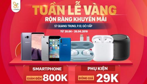 Tuần lễ Vàng rộn ràng khuyến mãi: Smartphone giảm đến 800K, phụ kiện giá chỉ từ 29K
