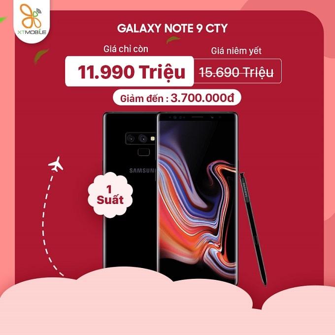 Galaxy Note 9 công ty cũ giảm đến 3,7 triệu tại XTmobile Hoàng Văn Thụ