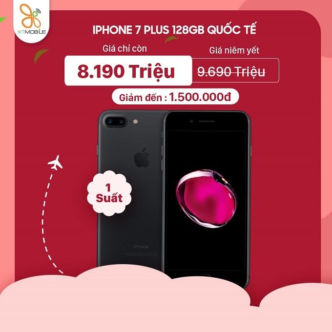 iPhone 7 Plus 128GB cũ giảm đến 1,5 triệu tại XTmobile Hoàng Văn Thụ