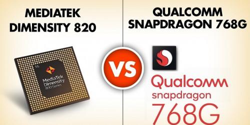 Snapdragon 768G vs Dimensity 820: Liệu Chipset 5G nhà Qualcomm có bị đánh bại?