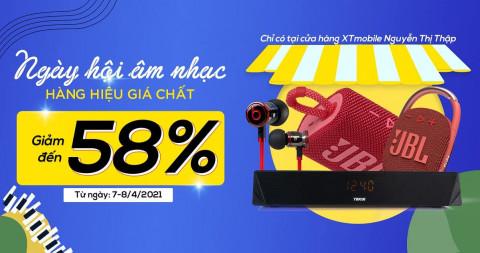 Loa Bluetooth và tai nghe giảm đến 58% tại cửa hàng XTmobile 396 Nguyễn Thị Thập
