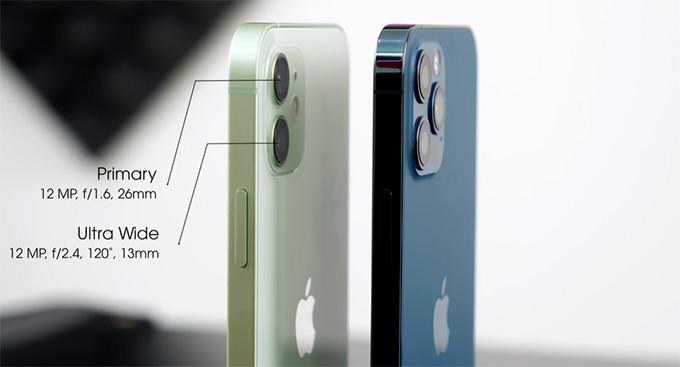 camera iPhone 12 64GB cũ cũng được trang bị 2 ống kính