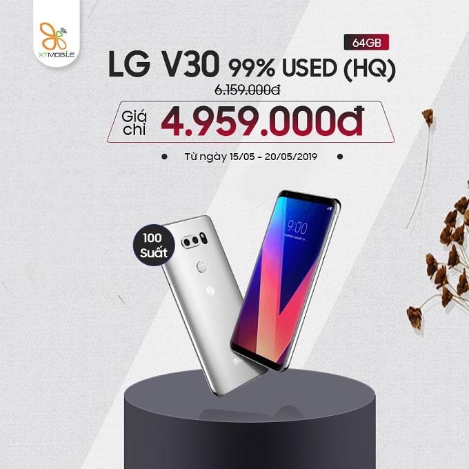 LG V30 64GB Hàn cũ giảm đến 1,2 triệu tại XTmobile