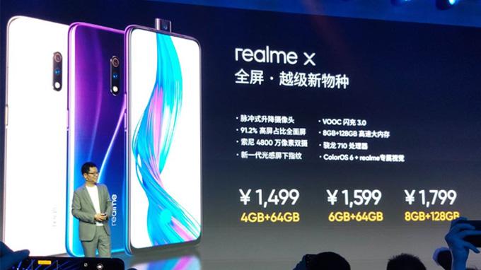 Giá bán Realme X tương đối rẻ