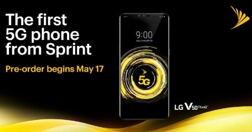 LG V50 5G của Sprint đã chính thức mở đặt hàng trước tại Mỹ