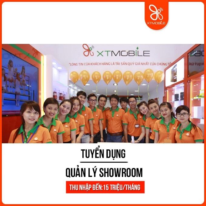 XTmobile tuyển quản lý showroom thu nhập đến 15 triệu