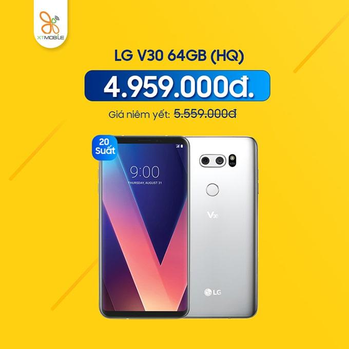 LG V30 giá rẻ chỉ còn 4,96 triệu