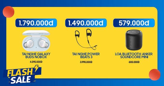 Loa, tai nghe giảm đến 63%