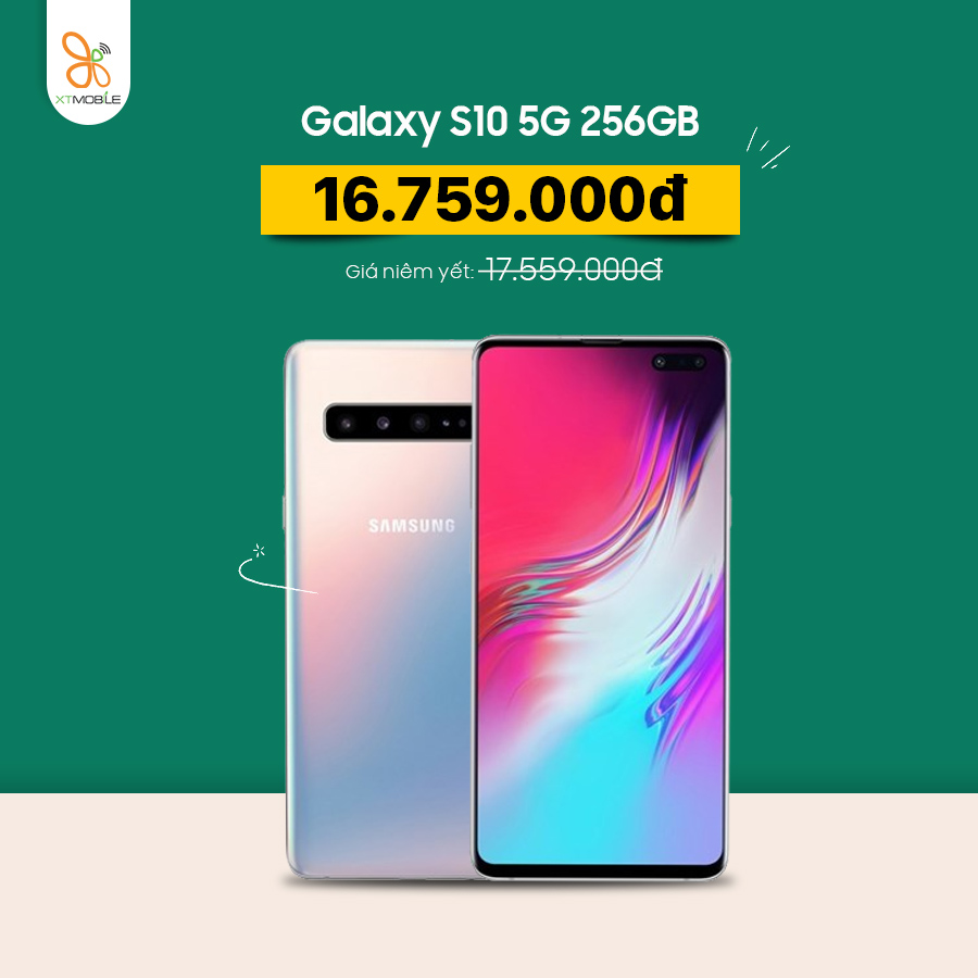 Galaxy S10 5G 256GB giảm 800K