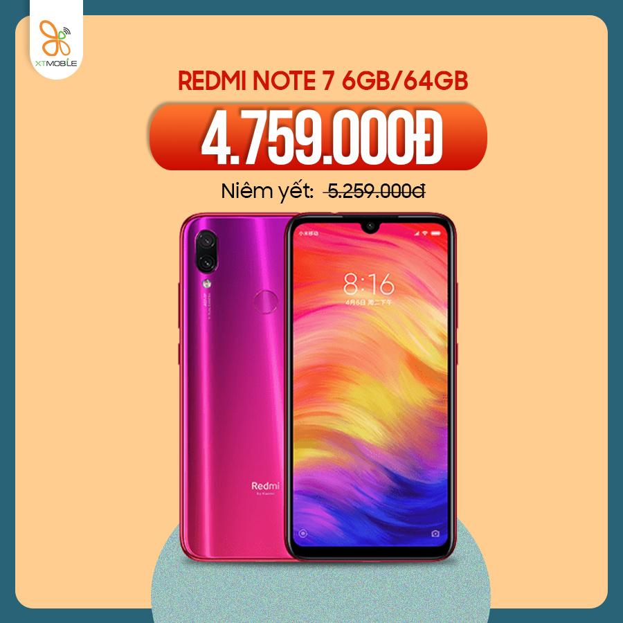 Xiaomi Redmi Note 7 6GB giảm 500k