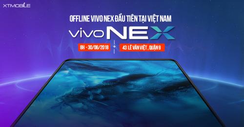 Thông báo chương trình Offline ViVo Nex tại 43 Lê Văn Việt