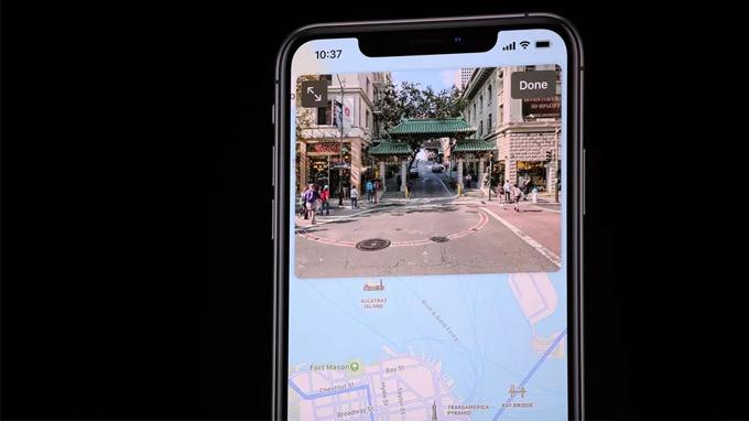ứng dụng bản đồ mặc định trên iPhone cũng được Apple làm mới với hệ điều hành iOS 13 với dự liệu toàn diện hơn