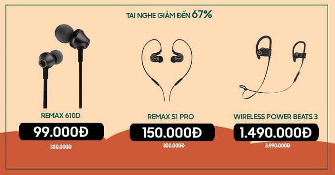 Tai nghe giảm đến 67% tại XTmobile Lê Hồng Phong