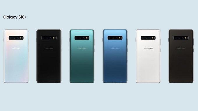 Galaxy S10 Plus sẽ có 6 phiên bản màu tiêu chuẩn