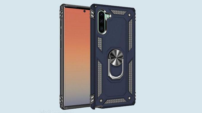 Mặt lưng Galaxy Note 10 là cụm 3 camera sau sẽ được sắp xếp theo chiều dọc ở góc bên trái