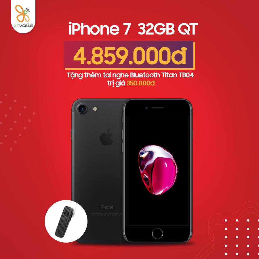 mua iPhone 7 tặng thêm tai nghe Bluetooth Titan TB04 trị giá 350.000đ