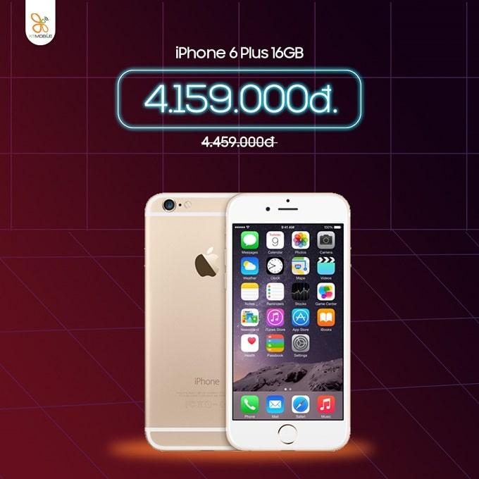 iPhone 6 Plus 16GB cũ giảm thêm 300 ngàn tại XTmobile Thủ Đức