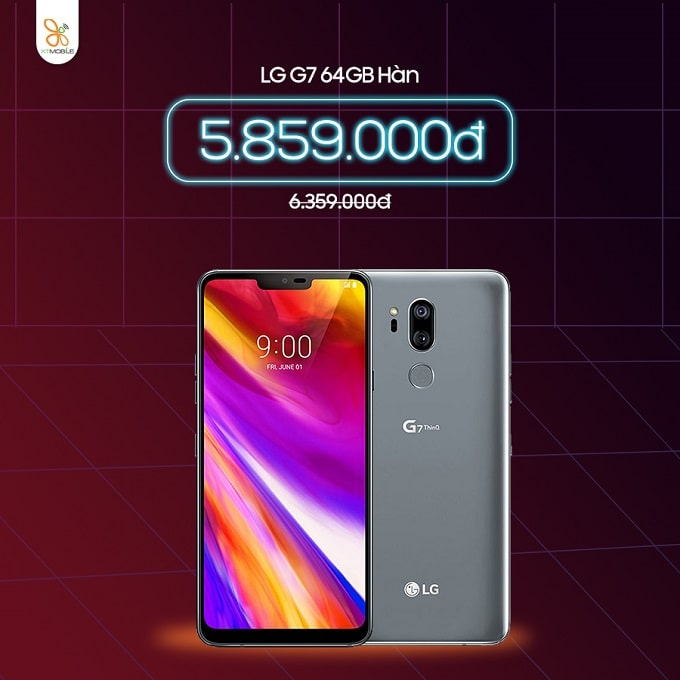 LG G7 64GB Hàn cũ giảm thêm đến 500 ngàn tại XTmobile Thủ Đức