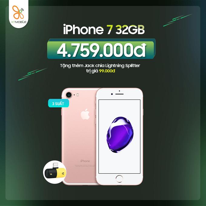 Mua iPhone 7 32GB nhận ưu đãi đến 399K tại XTmobile Lê Văn Việt