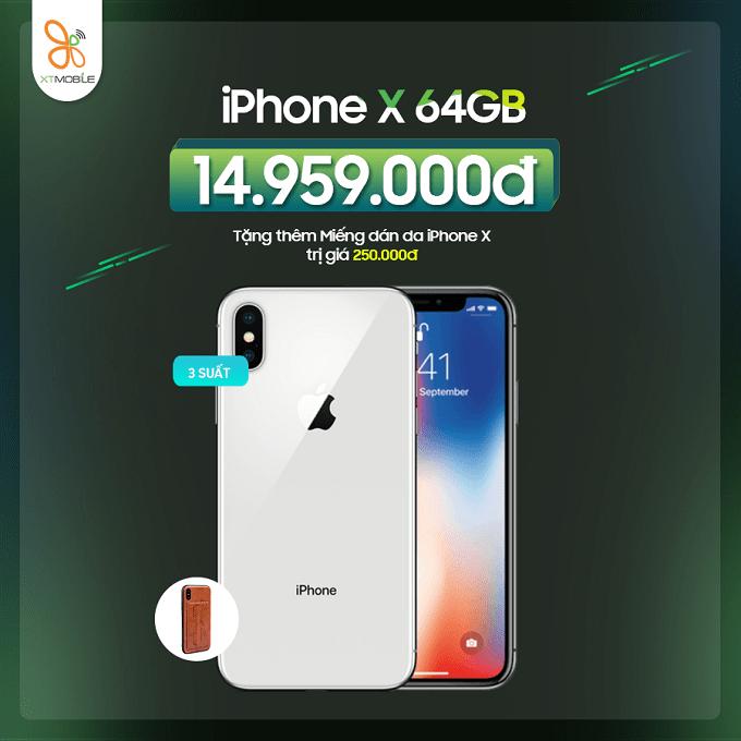 Mua iPhone X cũ nhận ưu đãi đến 550K